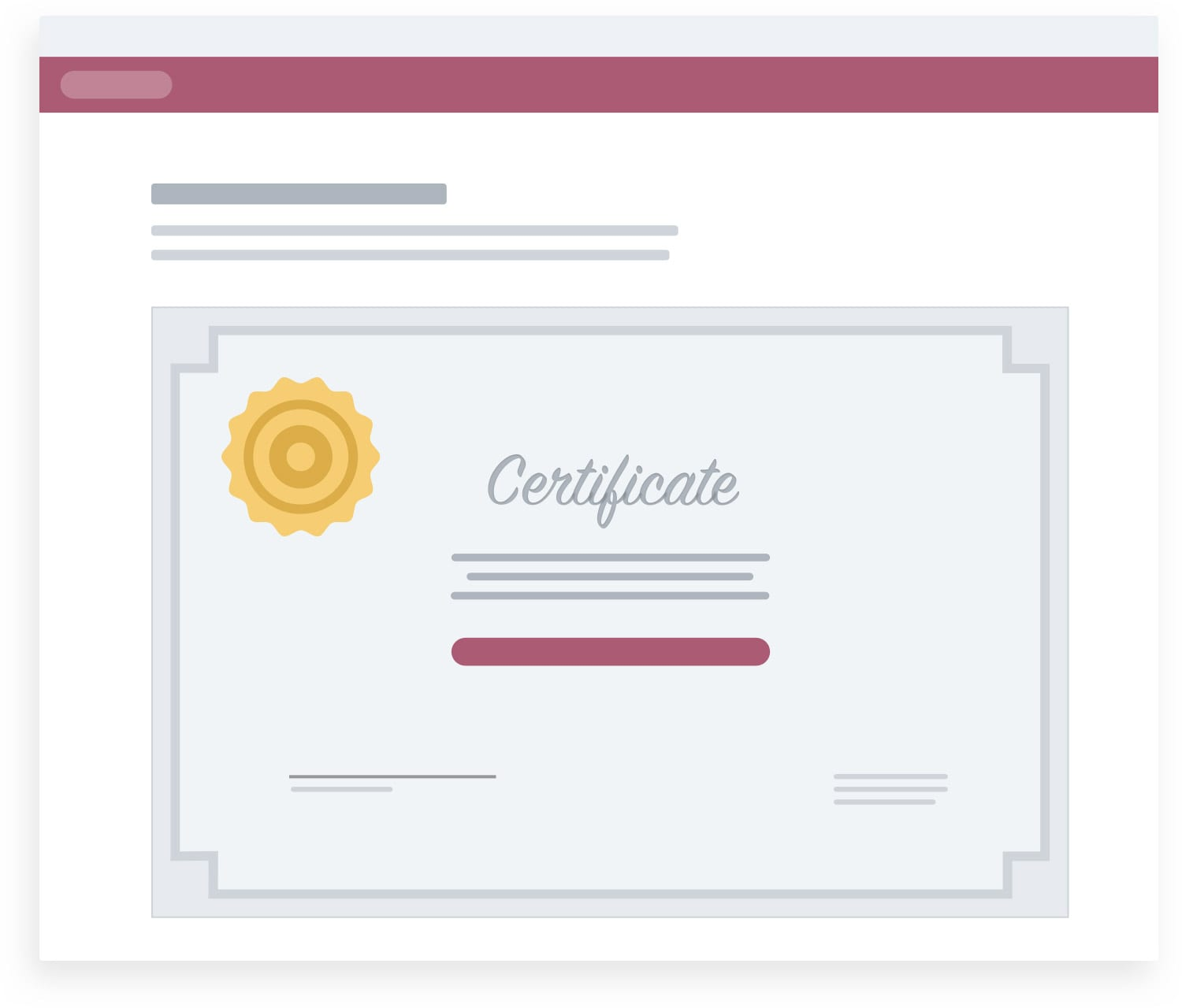Customer Training Certificates