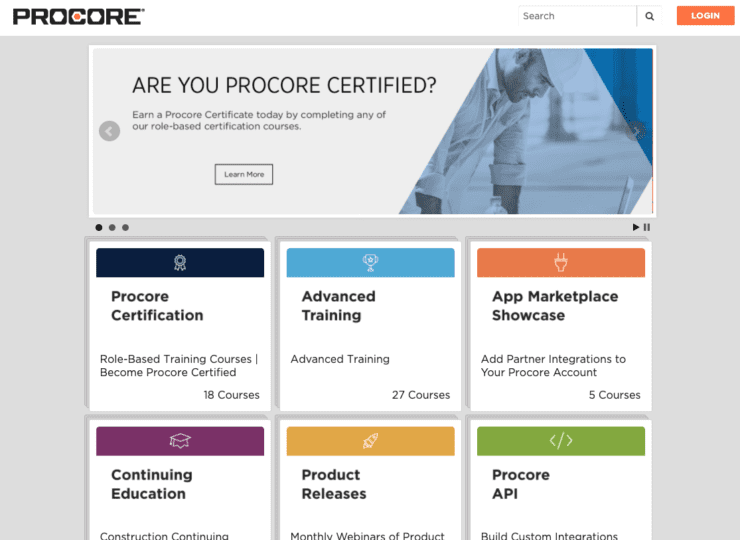 Procore Training Portal