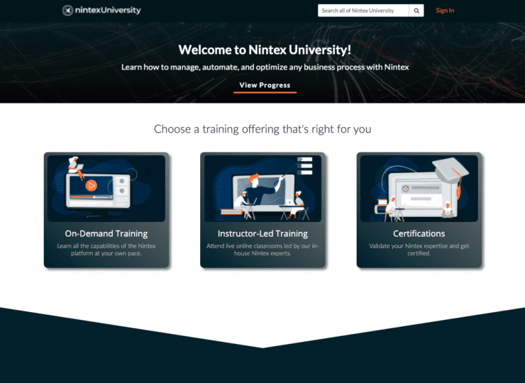 Nintex Training Portal