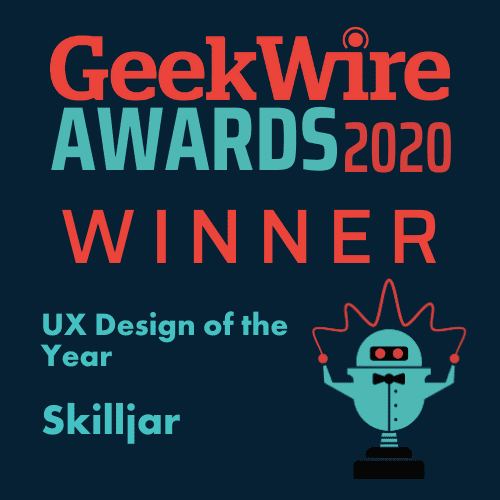 GeekWire UX Design of the Year Award Badge